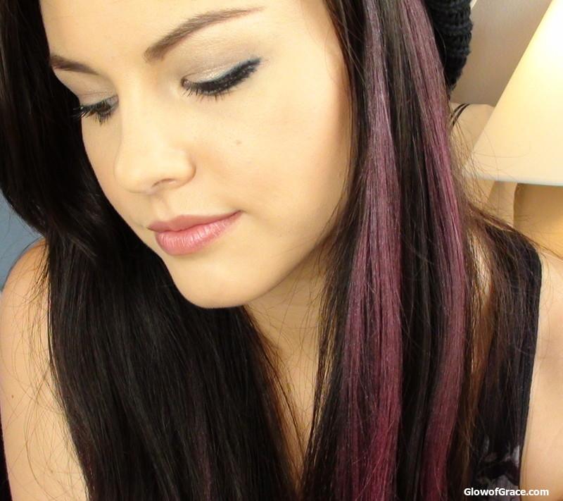 PLL Aria's Pink Streaks (Hair Chalking)