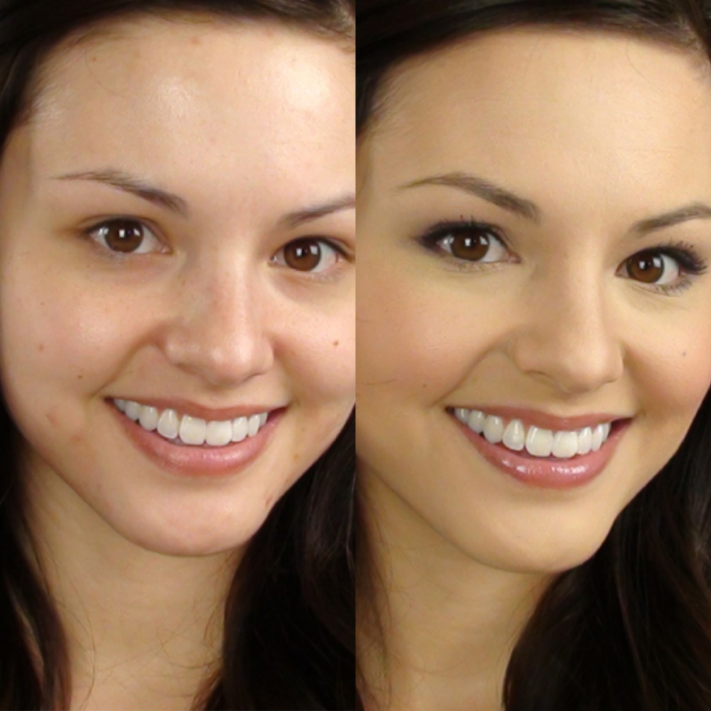 Full Coverage Foundation Before & After